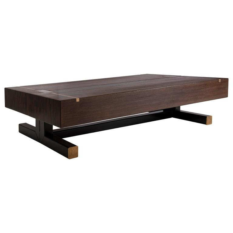 Contemporary Coffee Table.Contemporary Coffee Table Using A J Wabbes 1960 S Wenge End Grain Wood Top