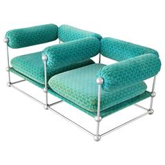 Two-Seat Sofa Model S420 Modular Seating by Verner Panton for Thonet in 1968