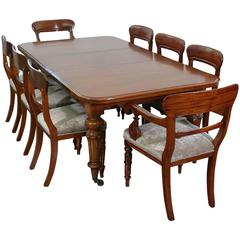 Mid-19th Century English Mahogany Dining Suite