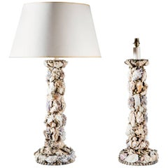 Fine Pair of Grotto Lamps