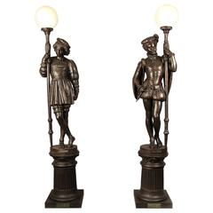 Great Pair of 19th Century Cast Iron Torchères, Fonderies D'art Du Val D'Osne