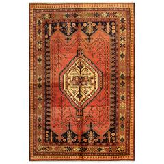 Vintage Carpet, Persian Rugs Hand Woven by Qashqai Tribes
