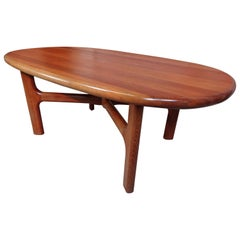 Rare Solid Teak Mid-Century Modern Retro Dyrlund Coffee or Centre Table