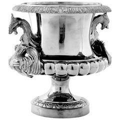 Victoria Vase in Antique Silver Plated Finish