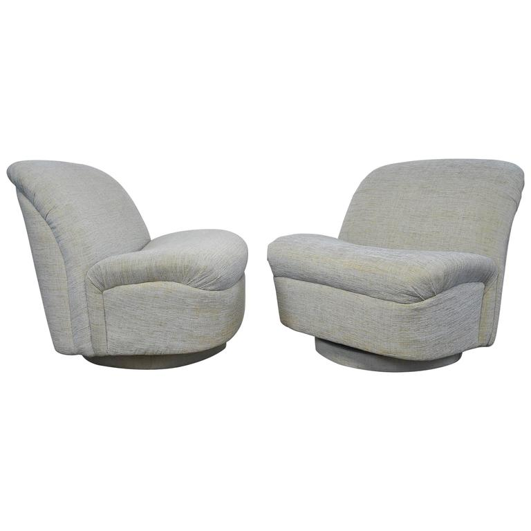Directional Swivel Rocking Lounge Chairs For Sale