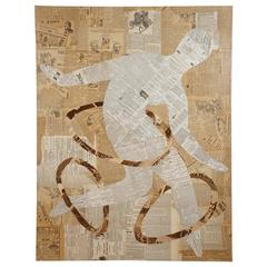 """Untitled, """"Outsider"""" Collage by Wayne Cunningham"""