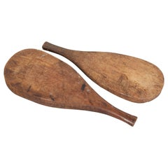 Thick Rustic Paddle Shaped Trays