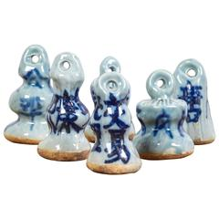 Early 20th Century Chinese Porcelain Weight Measures