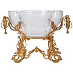Baccarat Crystal and Dore Bronze-Mounted Centrepiece or Jardinière