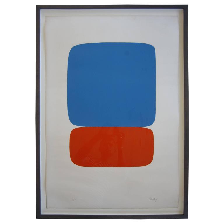 """Blue & Orange"" Lithograph by Ellsworth Kelly"