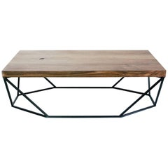 Dusk Coffee Table, Large in Walnut and Blackened Steel