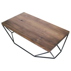 Dusk Coffee Table, Small in Walnut and Blackened Steel