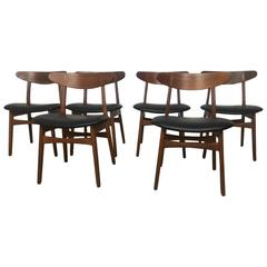 Hans Wegner CH30 Chairs, Set of Six