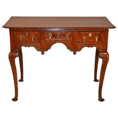 18th Century English Oak Inlaid Lowboy