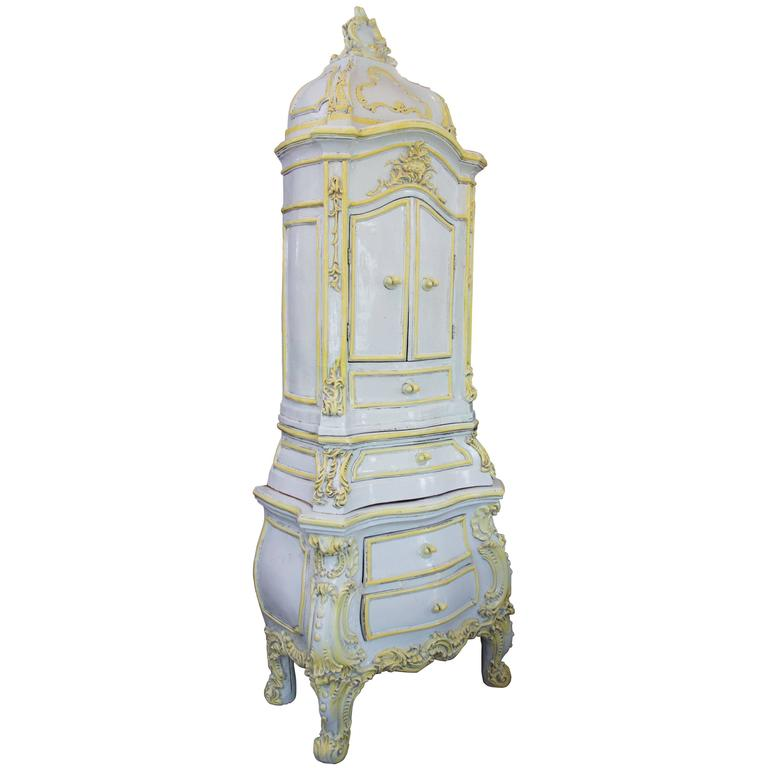 19th Century French Glazed Ceramic Stove For Sale