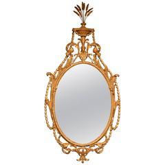 Fine 18th Century Oval Neoclassical Mirror