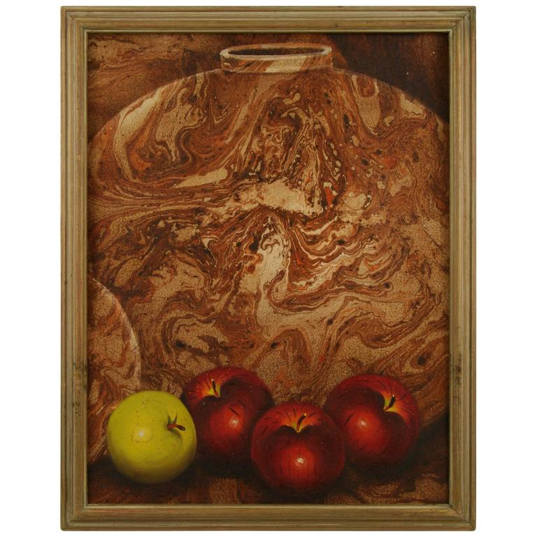 Pottery and Apples Painting