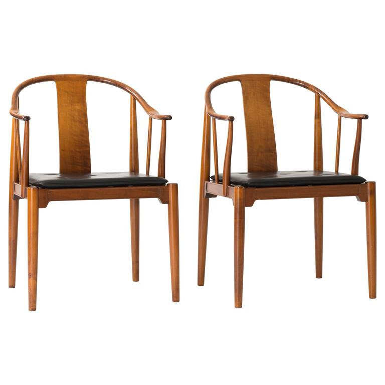 Pair of Hans J. Wegner Chinese Chairs