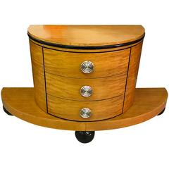 Italian Art Deco Dresser on Demilune Base