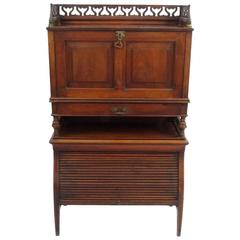 Aesthetic Movement Mahogany Secretaire Bookcase