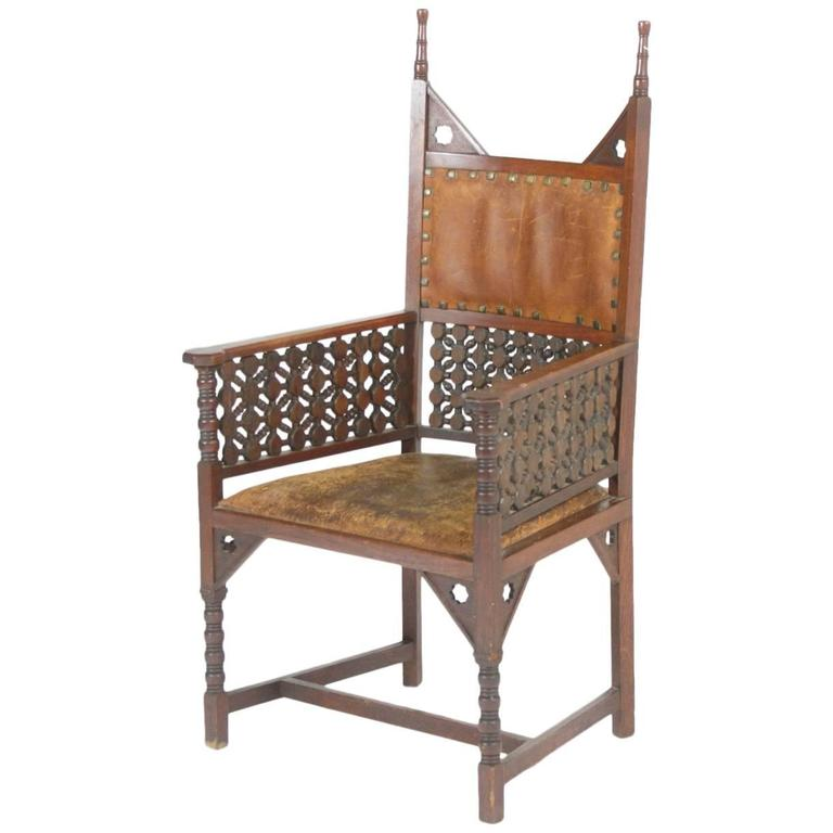 Rare Moorish Armchair by Liberty and Co.