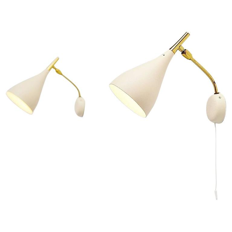 Wall Lamps Germany : Cosack Pair of Wall Lamps, Germany, 1960 For Sale at 1stdibs
