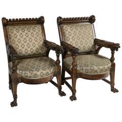 Pair of Renaissance Revival Fauteuils