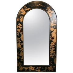 Japanned Chinoiserie Wall Mirror