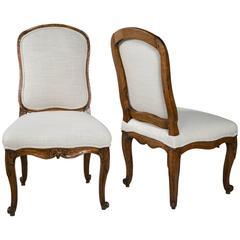Pair of 18th Century Walnut Chairs