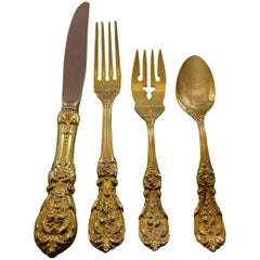 Francis I by Reed and Barton Sterling Silver Flatware Service 12 Set Gold