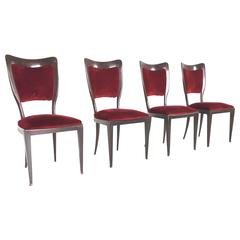 Set of Four Chairs by Paolo Buffa, 1950s