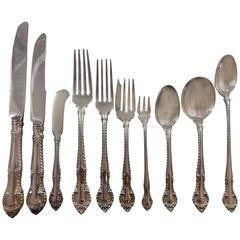 English Gadroon by Gorham Sterling Silver Flatware Set for 8 Service 95 Pieces