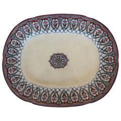 Large Arabian Pattern Staffordshire Platter