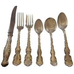 Louis XV by Gorham Whiting Sterling Silver Flatware Set for 12 Service 76 Pieces