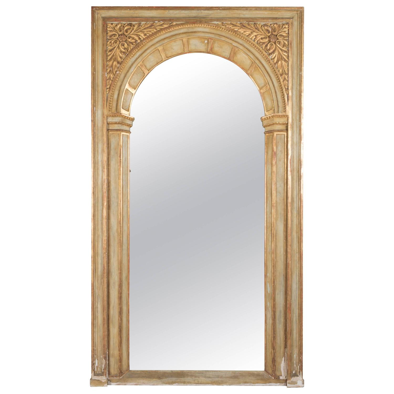 Large french parcel gilt floor mirror for sale at 1stdibs for Floor length mirror for sale
