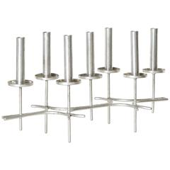 Paavo Tynell, Modular Pewter Candlesticks, 1960s