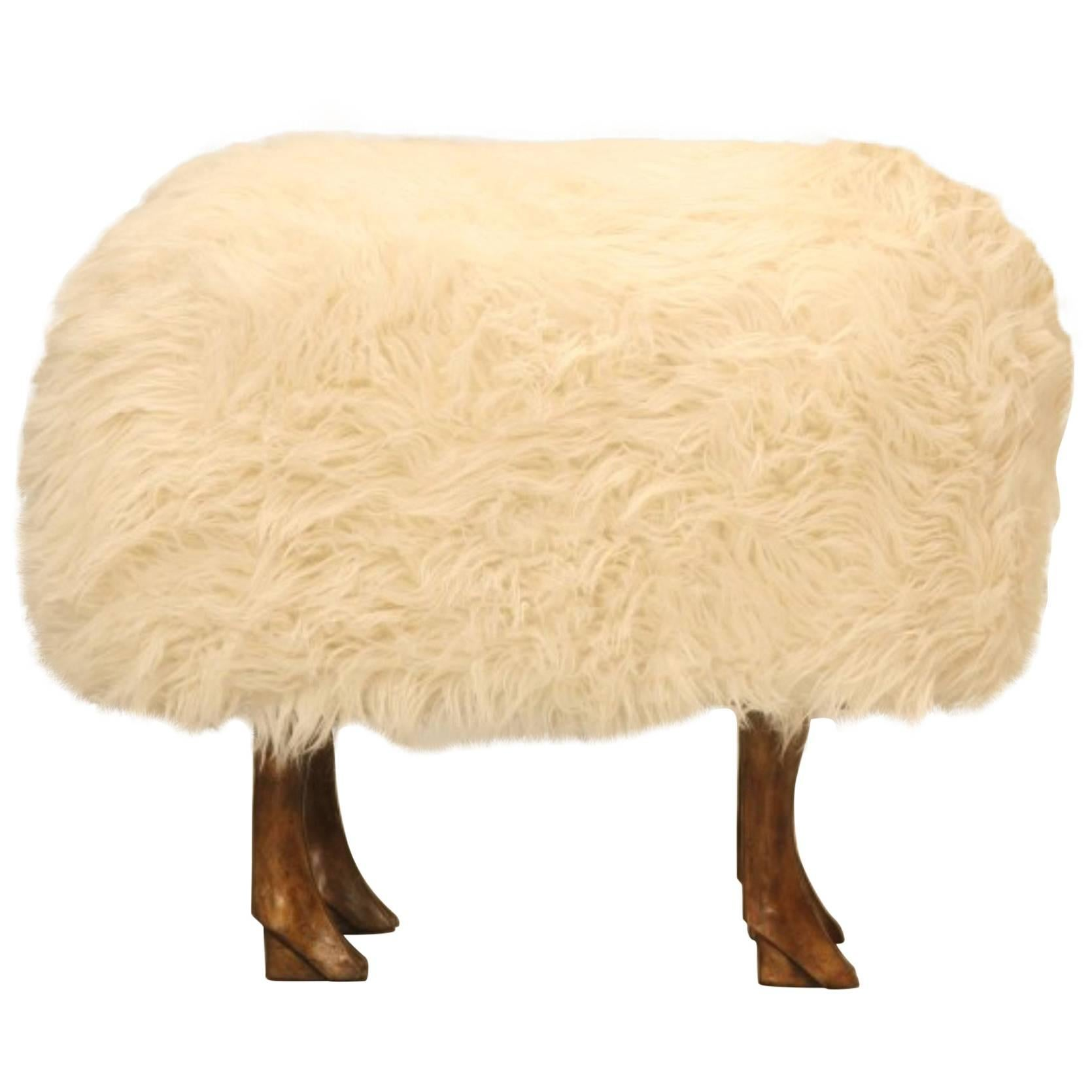 Lifesize Bronze Sheep, In Real Fur With Its Head Canted Left For Sale At  1stdibs
