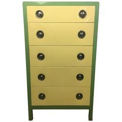 Norman Bel Geddes Two-Toned Art Deco Five-Drawer Dresser