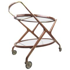 Mid-Century Modern Italian Service Cart by Cesare Lacca