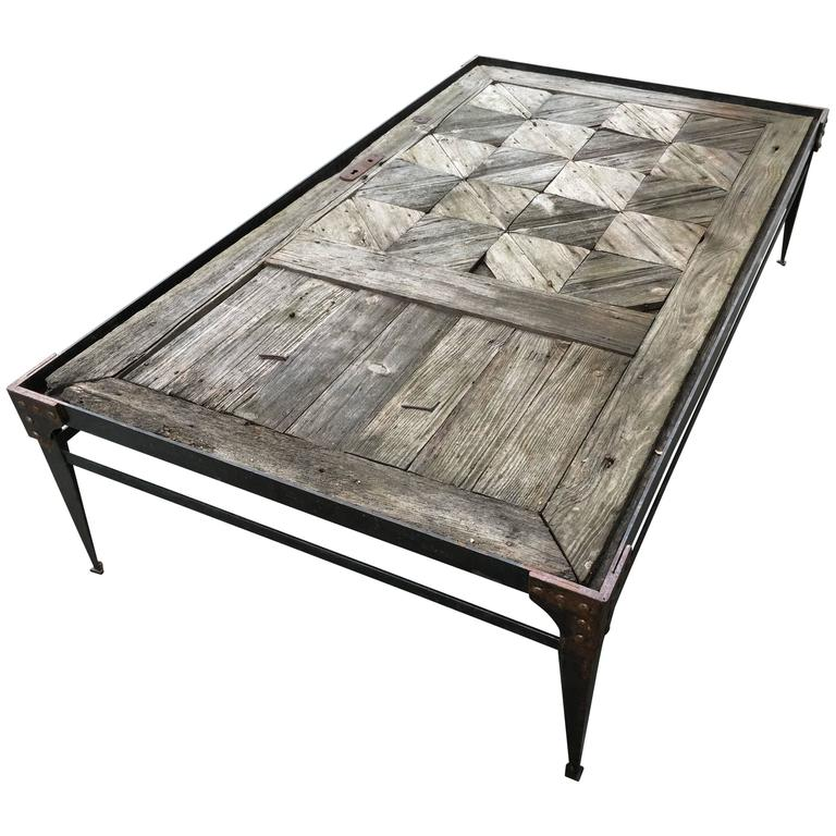 18th Century Cathedral Door Coffee Table