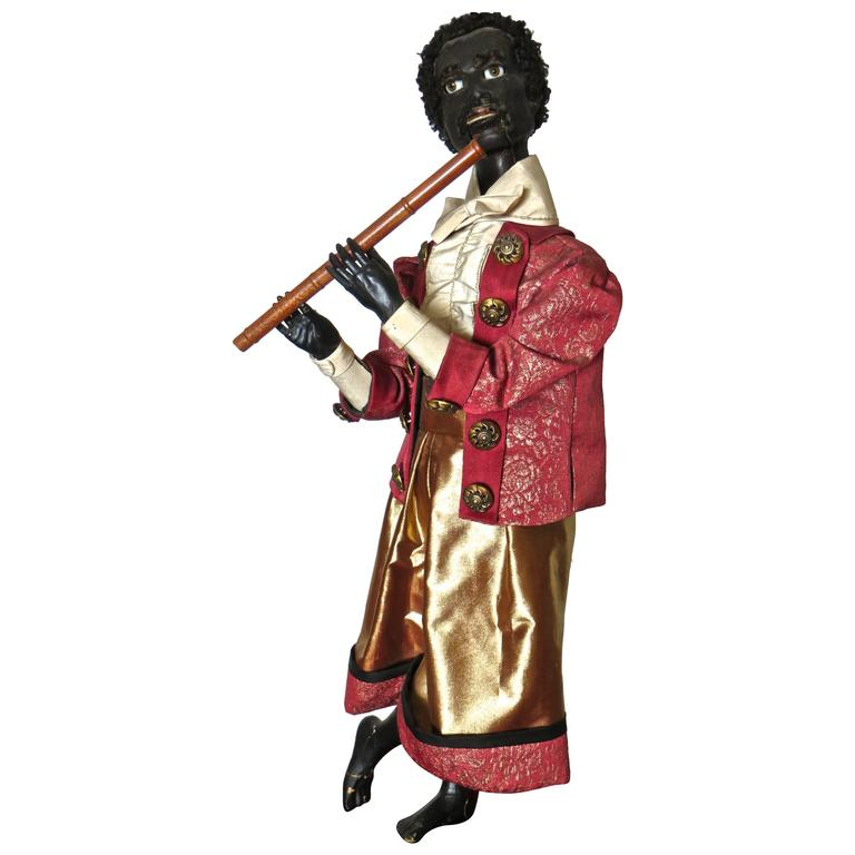 """Ethiopian Flutist"" French Musical Automaton by Gustave Vichy, circa 1870s For Sale"