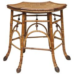 Very Sweet Rattan and Bamboo Seating Stool with Roots