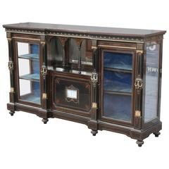 19th Century English Credenza with Satinwood Inlay and Ebony