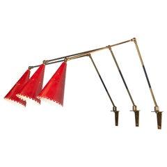 Red Articulating Sconces