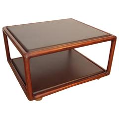 Ward Bennett Occasional Leather Table, 1980s