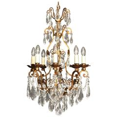 Italian Florentine Eight-Light Antique Chandelier