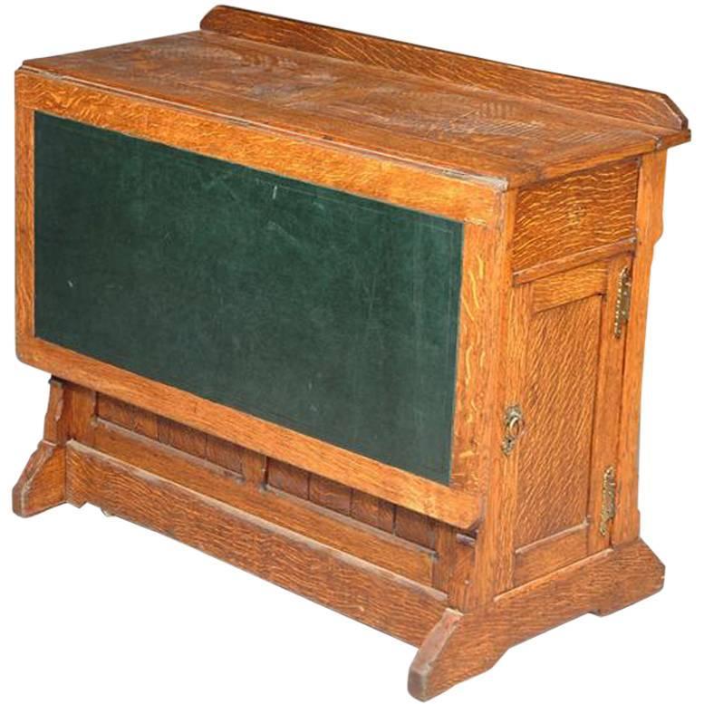 Gillows of Lancaster attri., Gothic Revival Oak Architect's Desk
