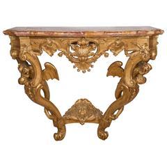 French Regency Gilt Wood Console
