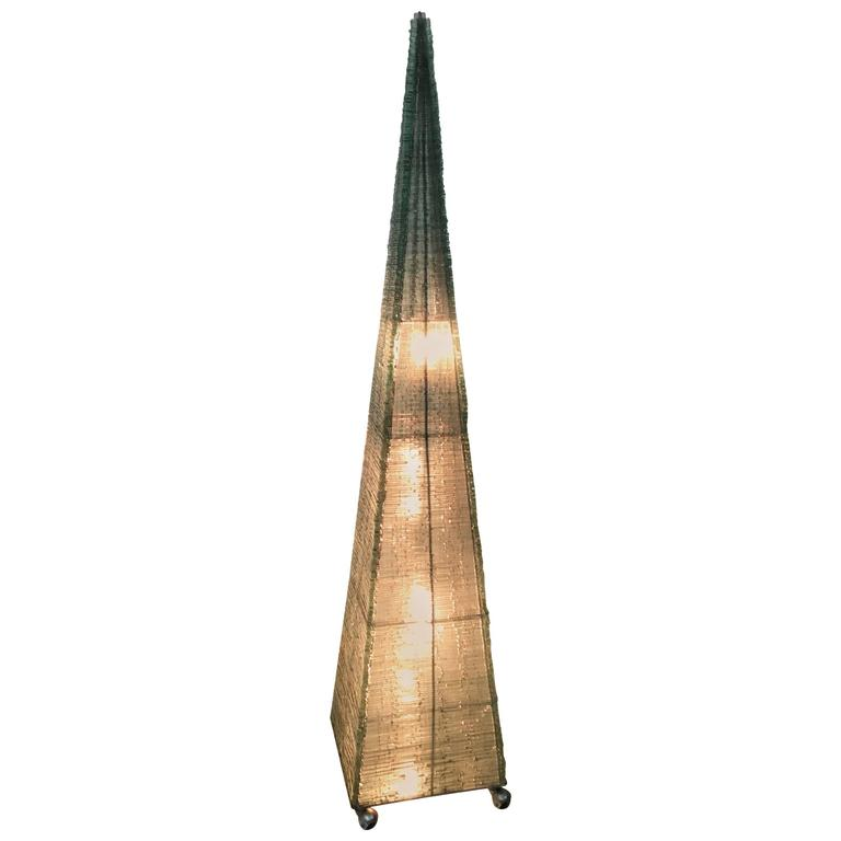 Pyramid Floor Lamp, 1980s