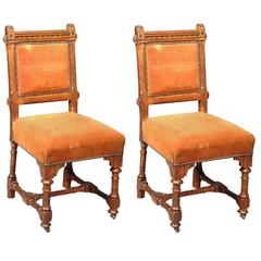 Pair of Arts and Crafts Dining Chairs by J P Seddon